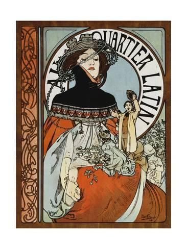 Giclee Print Au Quartier Latin Printed By Paul Dupont 1898 By