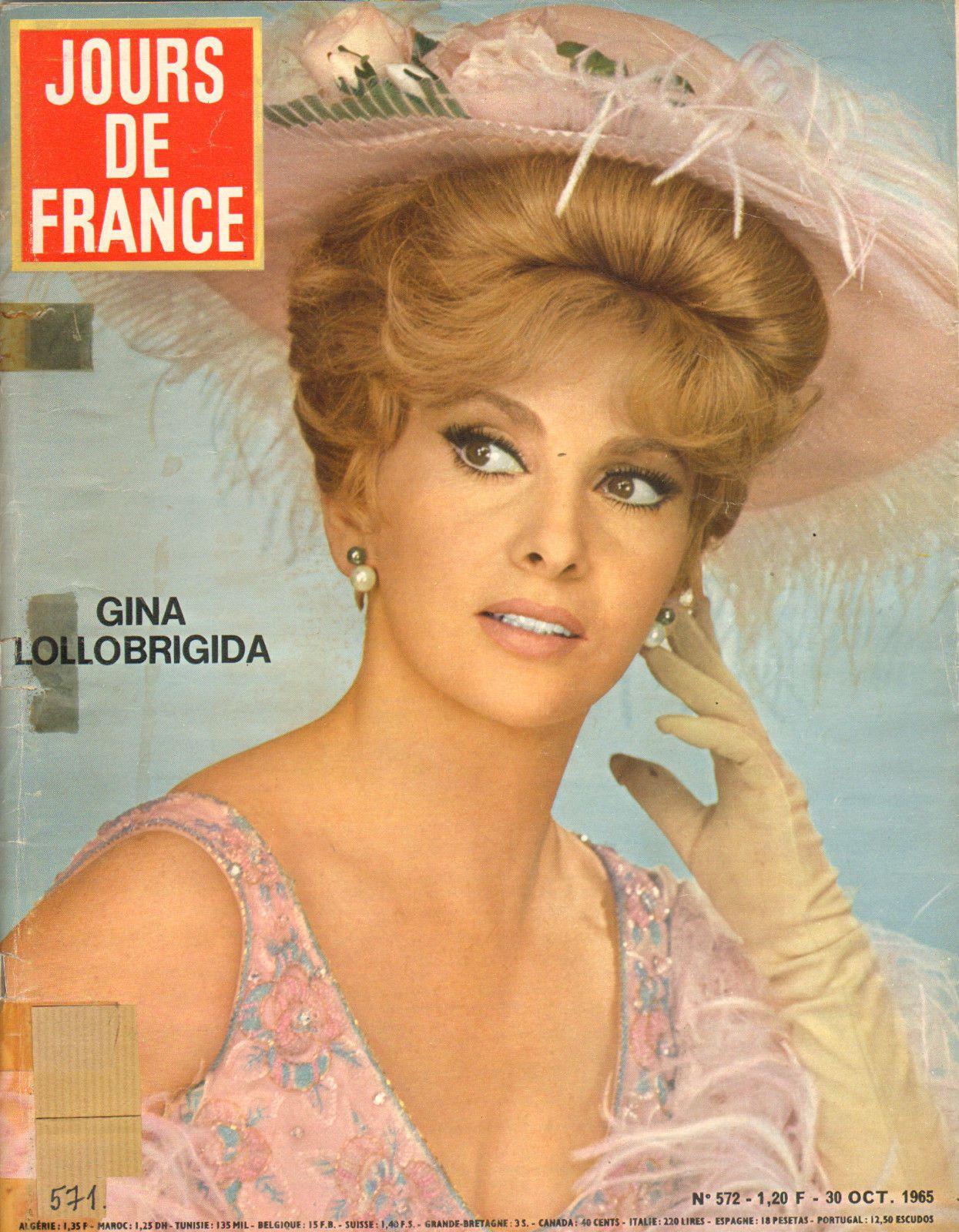 Jours DE France N°572 Gina Lollobrigida Sophie Agacinski Martine Geudt Zizi Romy | eBay