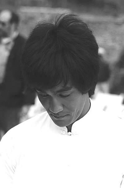 Bruce Lee on the set of Enter Th Dragon