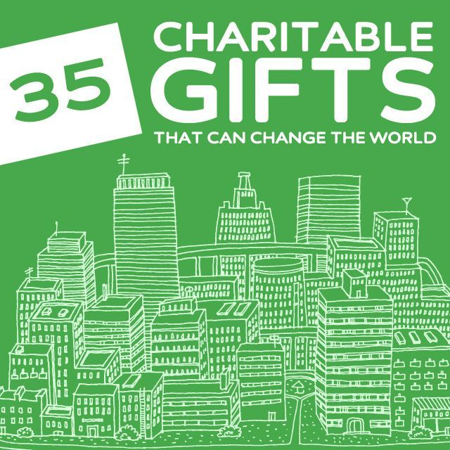 35 Life-Changing Charitable Gifts- that can change the world. / starting at $12 for gifts that help others... Take a look...