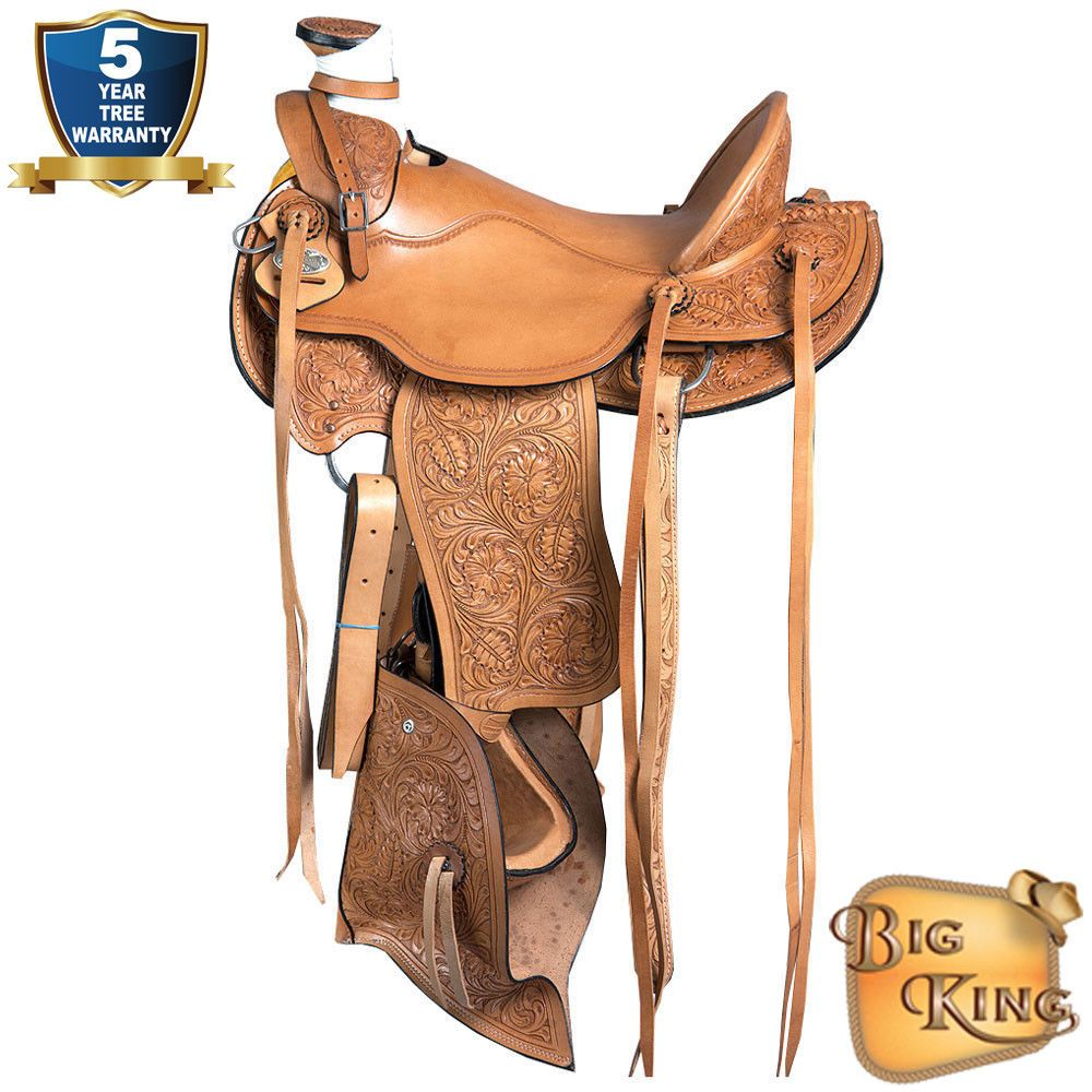 17'' HILASON BIG KING WESTERN WADE RANCH COWBOY ROPING