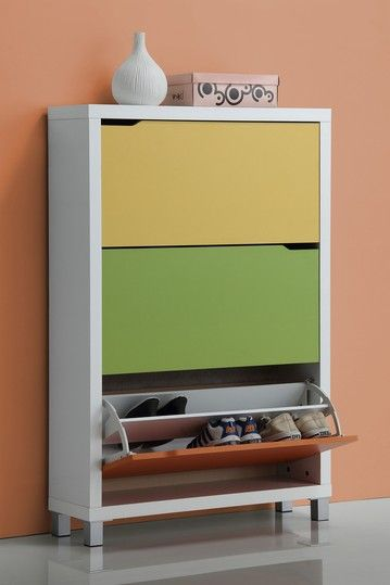 Simms Modern 3 Drawer Shoe Cabinet   Multi By Small Space Furniture  Essentials On @HauteLook