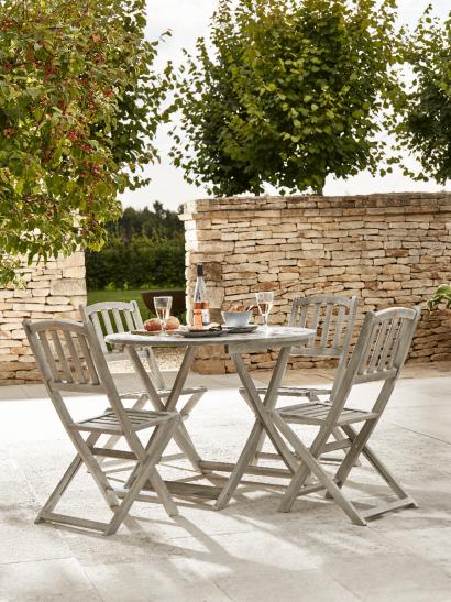 Modern Garden Dining Sets Wooden Metal Patio Outdoor Table