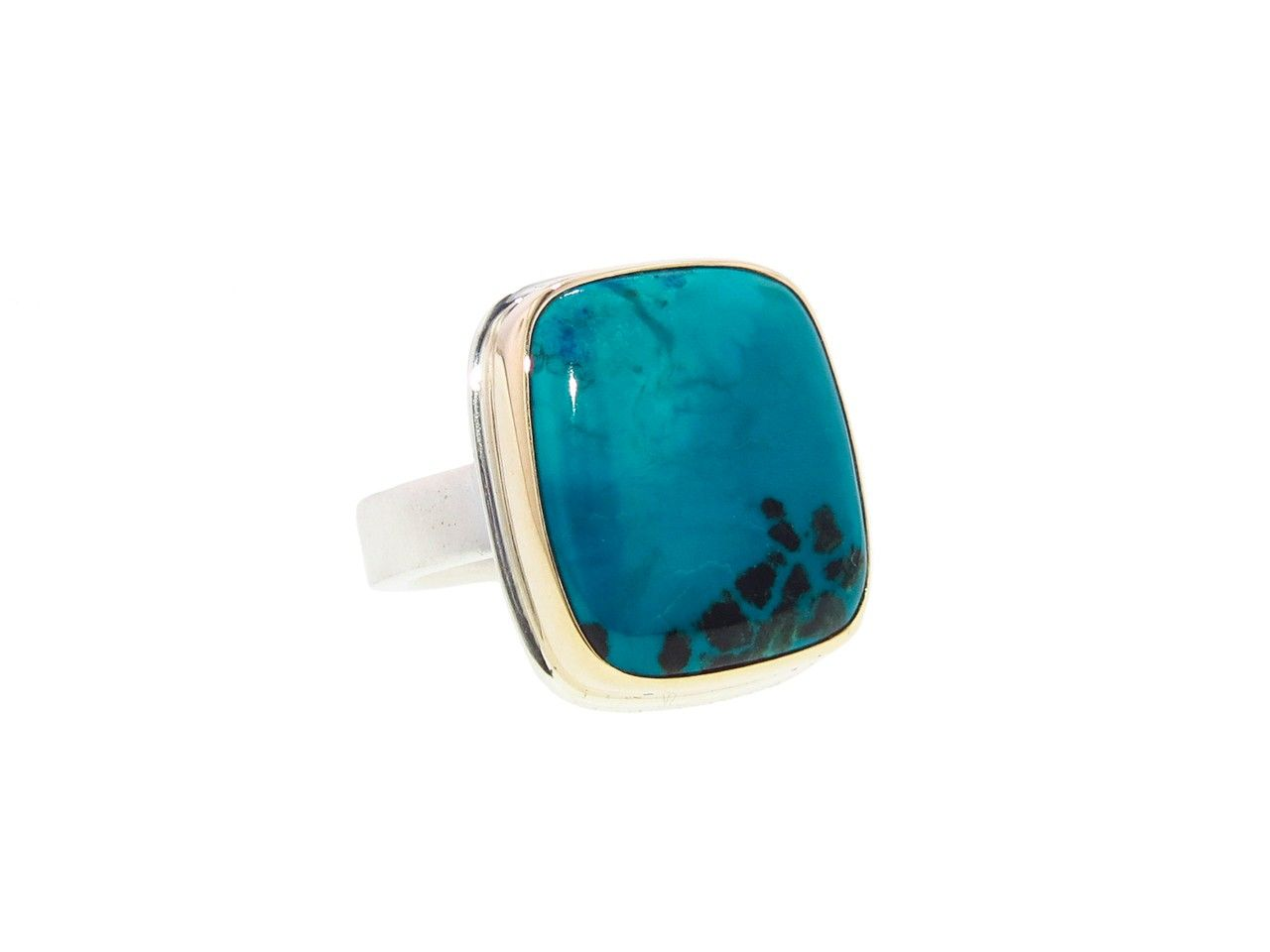 Square Chrysocolla Ring  by Jamie Joseph, at Ylang | 23