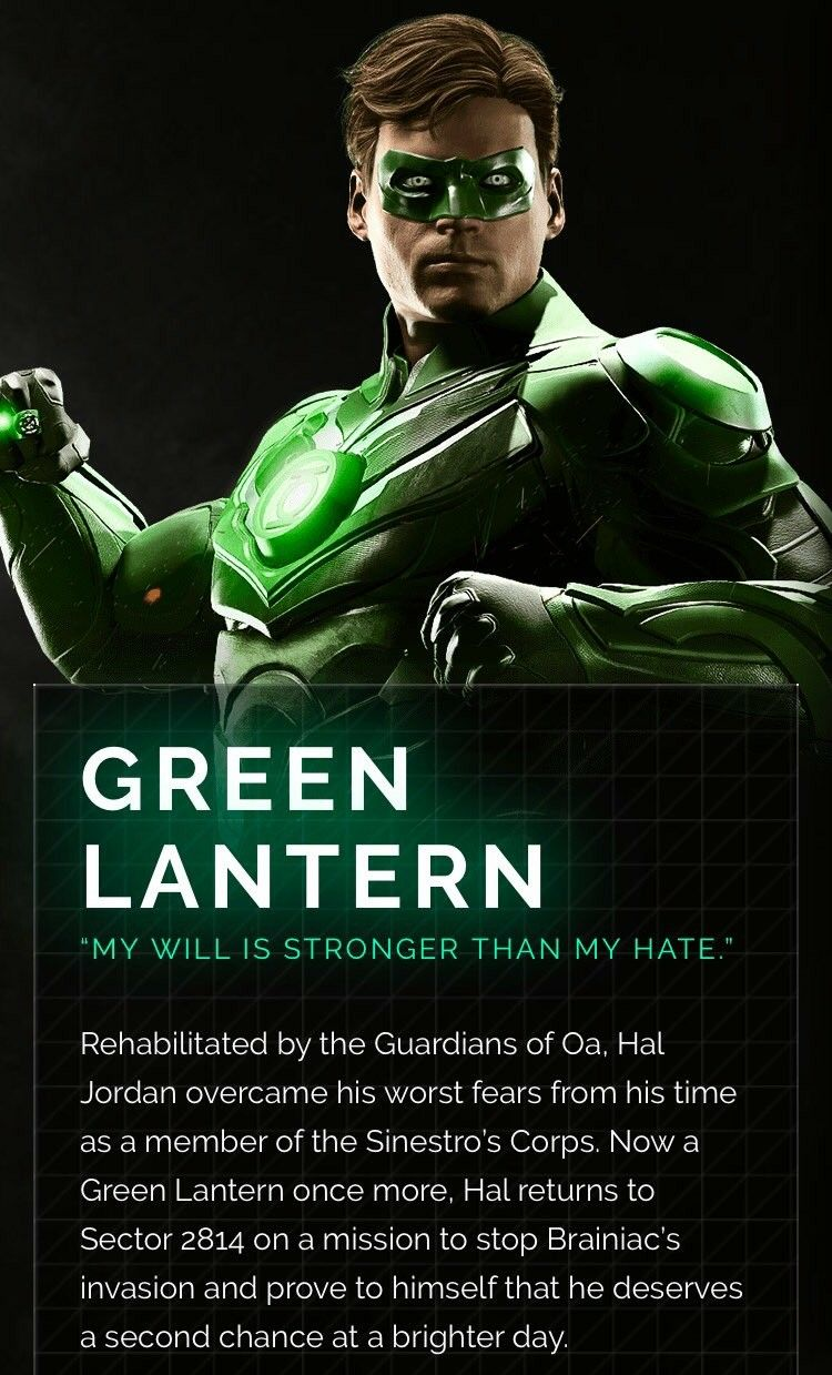 Injustice 2 Green Lantern Hal Jordan Injustice 2 Characters Green Lantern Hal Jordan Green Lantern