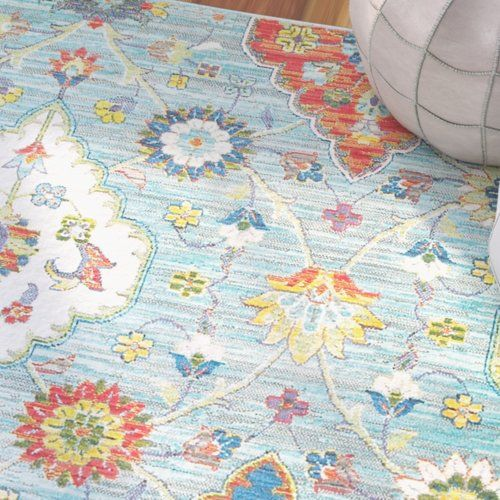 Mansi Baby Blue Yellow Area Rug Yellow Area Rugs Area Rugs Rugs