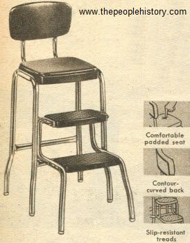 High Quality 1954 Step Ladder Stool   I Think Most Homes Had One Of These.