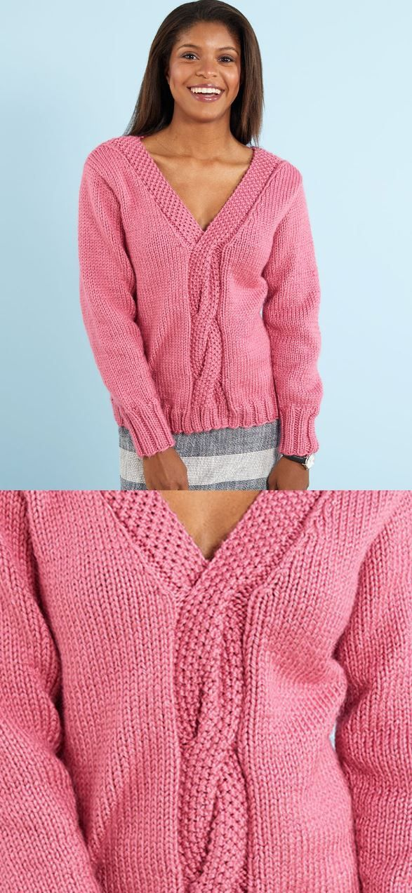 Free Knitting Pattern For A Lovely Cable Knit Sweater Knitting