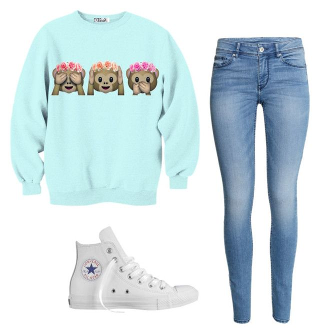 """""""Untitled #520"""" by unique-lov on Polyvore featuring H&M and Converse"""
