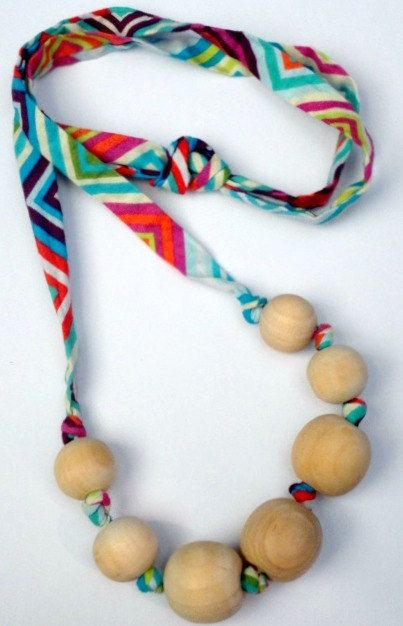 Fabric Teething Necklace.Baby Necklace.Nursing necklace