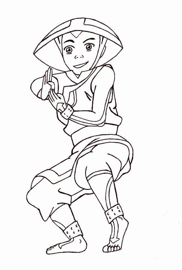 Avatar The Last Airbender Toph Coloring Pages | Coloring Pages