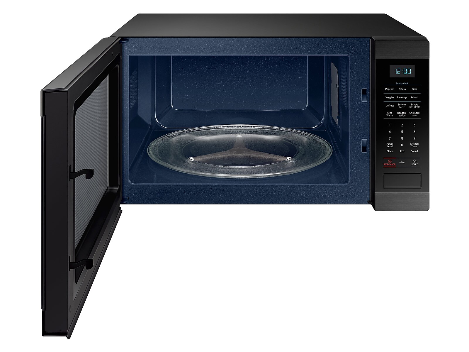 Samsung 1 9 Cu Ft Countertop Microwave With Sensor Cooking In