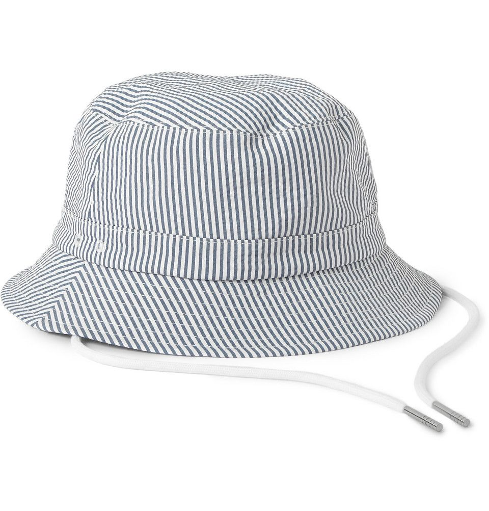 Thom Browne - Seersucker Fisherman's Hat|MR PORTER
