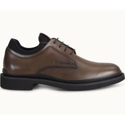 Photo of Tod's – leather lace-up shoes, black, brown, 11 – shoes tod's
