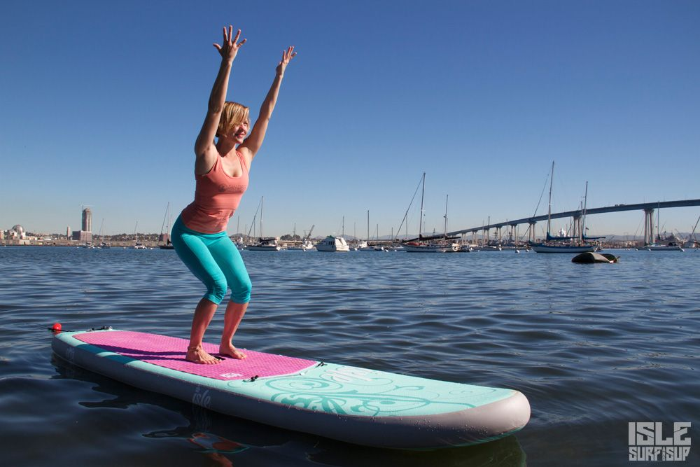 Paddle Surf Yoga pose de la silla