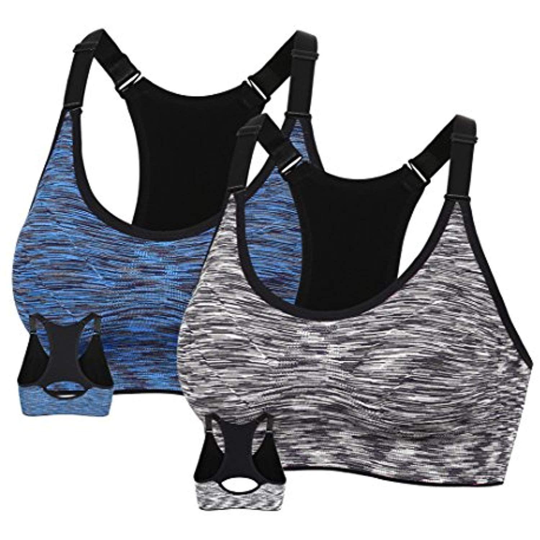 MotoRun Women's Seamless Sports Bra Workout Yoga Bras