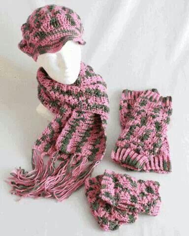 Pattern @ Maggie\'s Crochet.com | Crochet Hats & Scarves | Pinterest