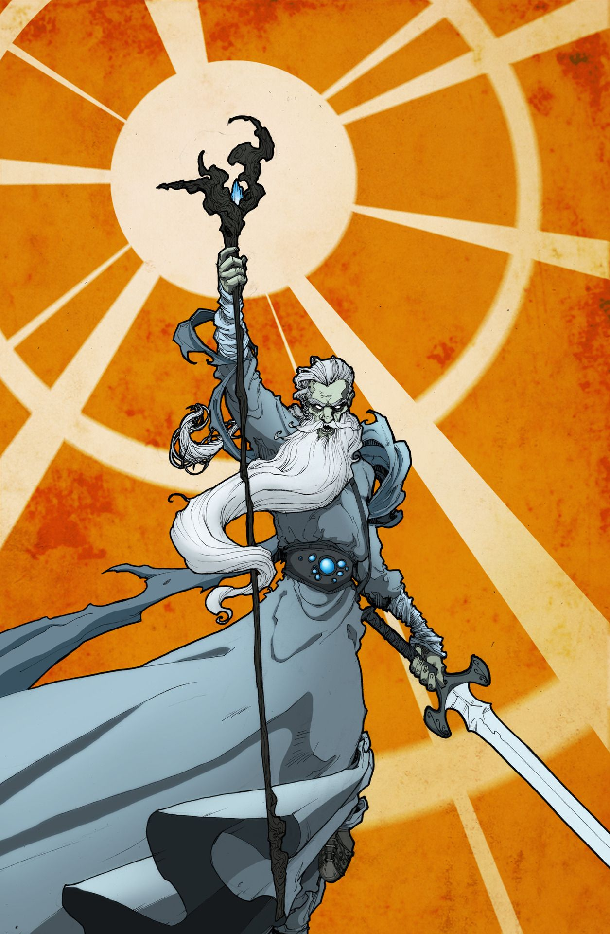 Character Design Zach : Lord of the rings gandalf by zach brunner sci fi sky