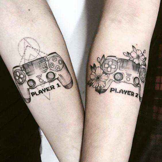 Best 50 Couple Tattoos Best Couple Tattoos Ideas With Photos In 2020 Best Couple Tattoos Couples Tattoo Designs Gaming Tattoo