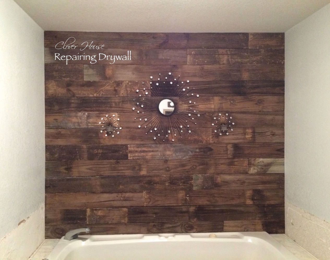 excellent idea for adding texture to drywall to cover up unevenness rh pinterest com