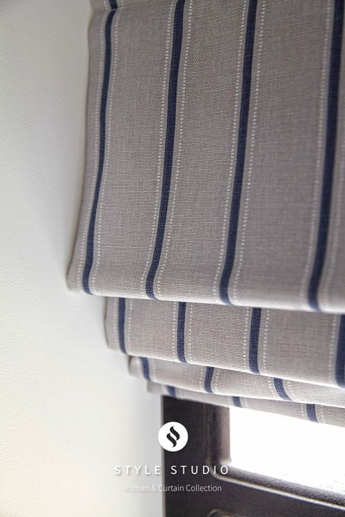 Mathers Wedgewood Striped Roman Blind From Style Studio