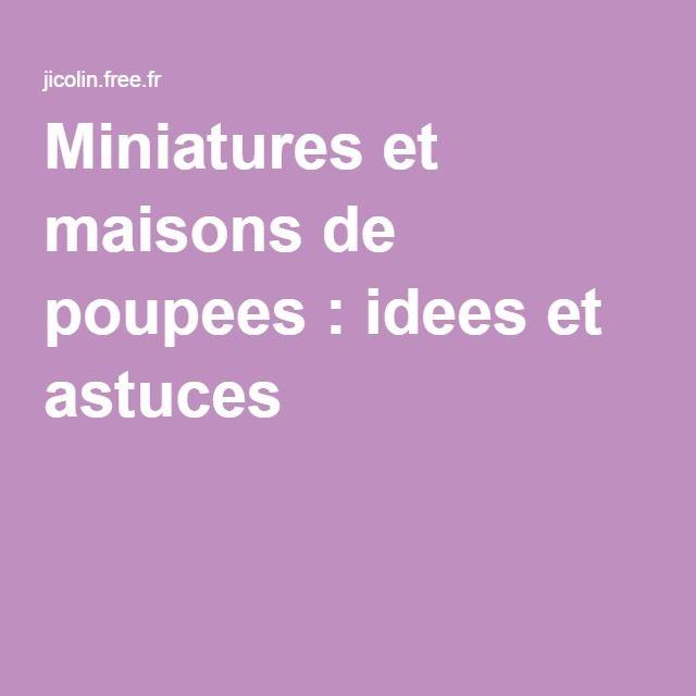 Miniatures et maisons de poupees idees et astuces for Imitazioni mobili design