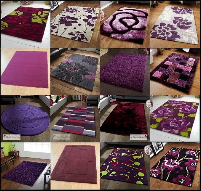 Purple Aubergine Plum Colour Rugs