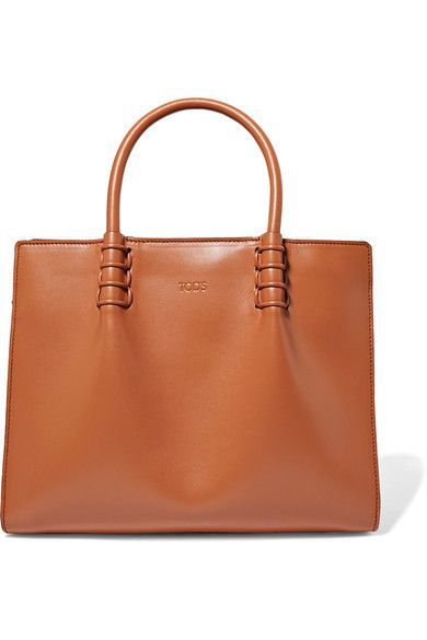 TOD'S TOD'S - LADY MOC MINI LEATHER TOTE - TAN. #tods #bags #
