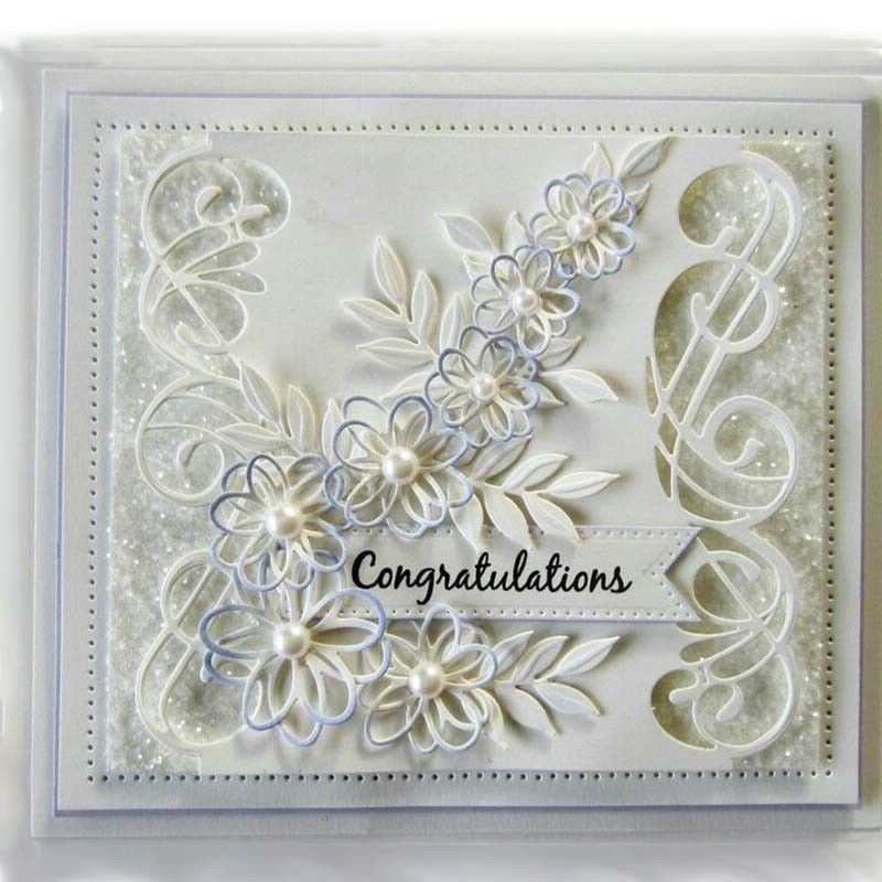 Wave Frame Metal Cutting Dies Scrapbooking DIY Card Making Embossing Decor Craft
