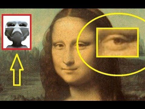 Alien Figure Found Secretly Hidden In Mona Lisa Painting - YouTube