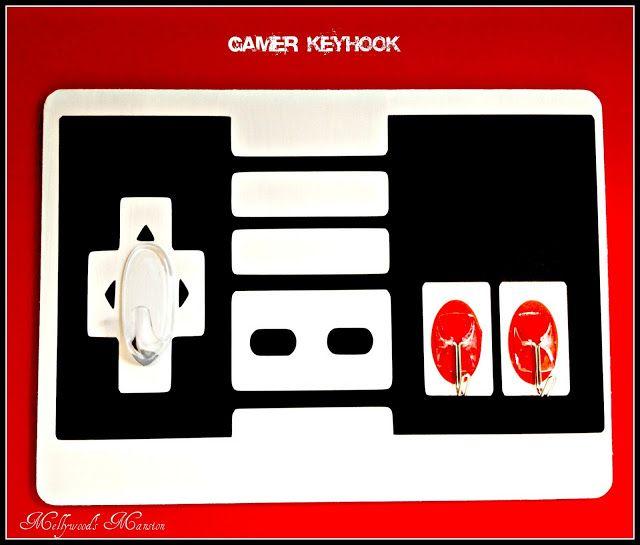 Gamer Key hooks - A fun way to keep teen aged boys organised