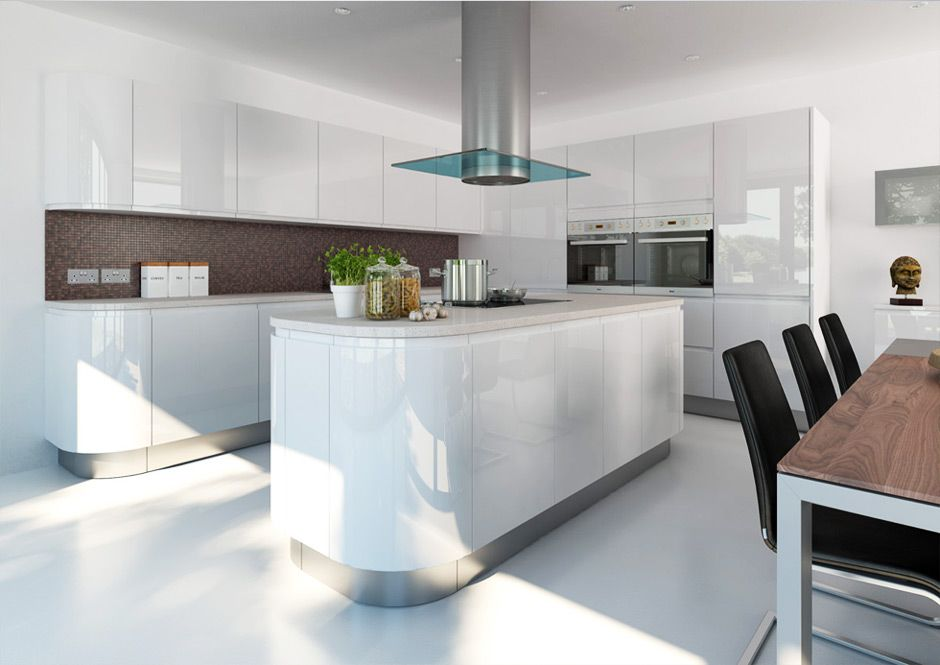 Best 20 Beautiful White Kitchen Designs White Gloss Kitchen 640 x 480