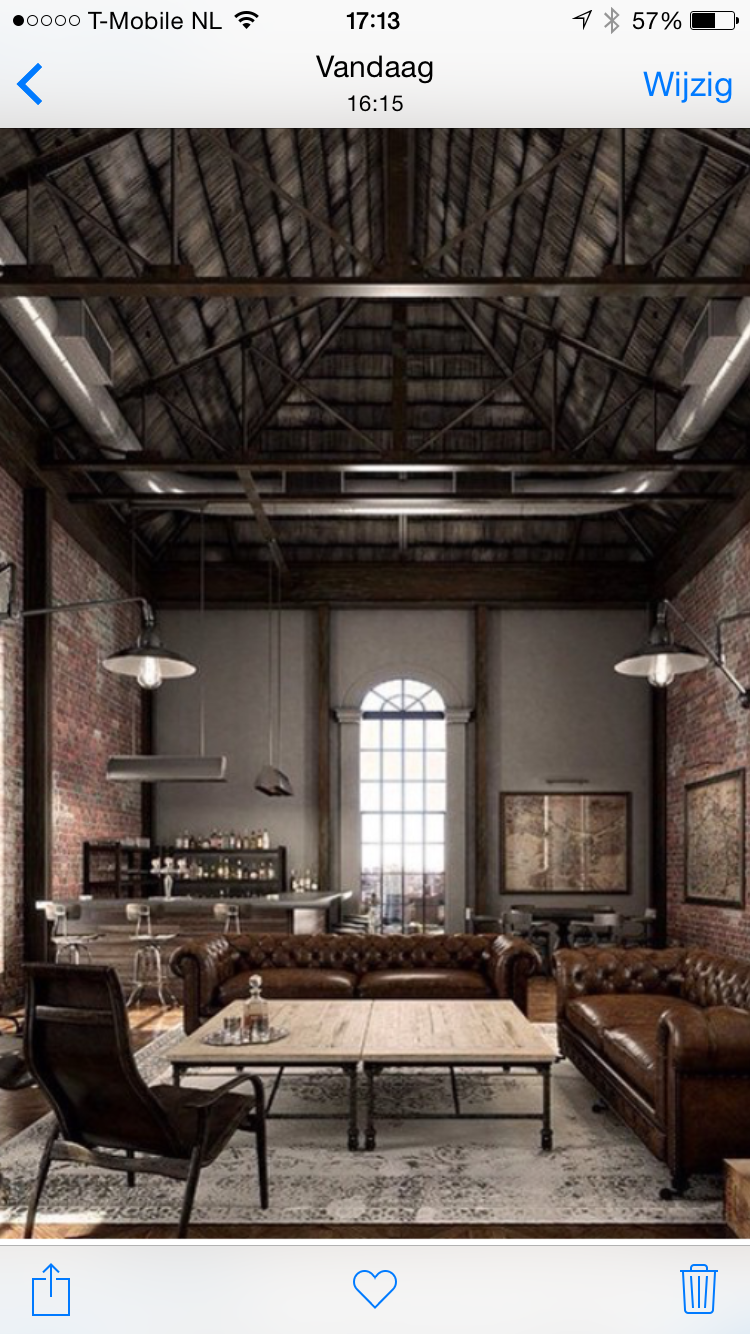 Industrial Interiors Industrial Chic Living Area Lofts