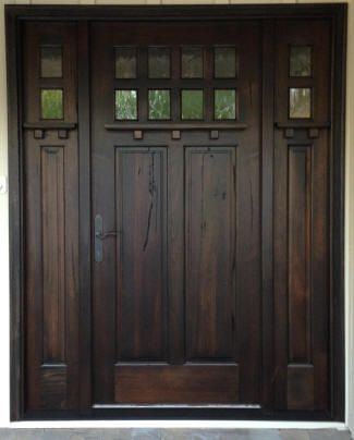 Walnut Front Door Shown Above South American Walnut