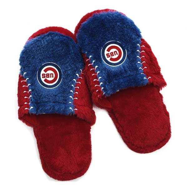 Chicago Cubs Logo Slippers by Forever Collectibles #