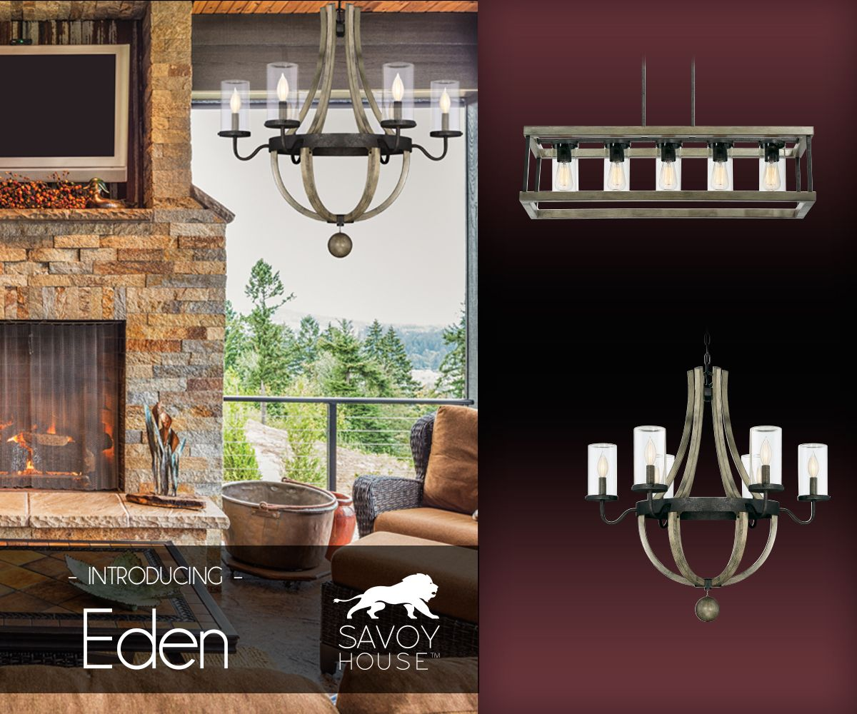 bring chic rustic style lighting outside with the savoy house eden
