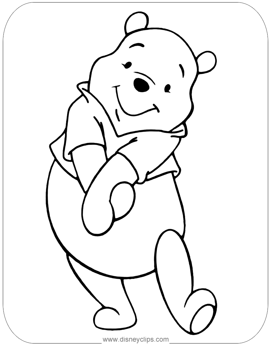 Adorable Winnie The Pooh Coloring Page Disney Coloring Pages