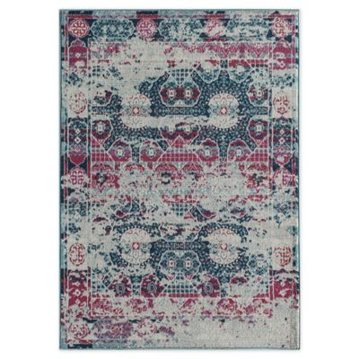 Rugs America Mod Floral 5 X 7 Area Rug In Red With Images