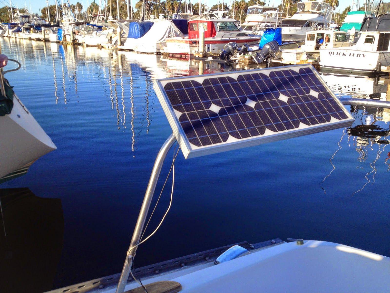 Diy Solar Panels For Boats Solar Solar Panels Sailboat Living