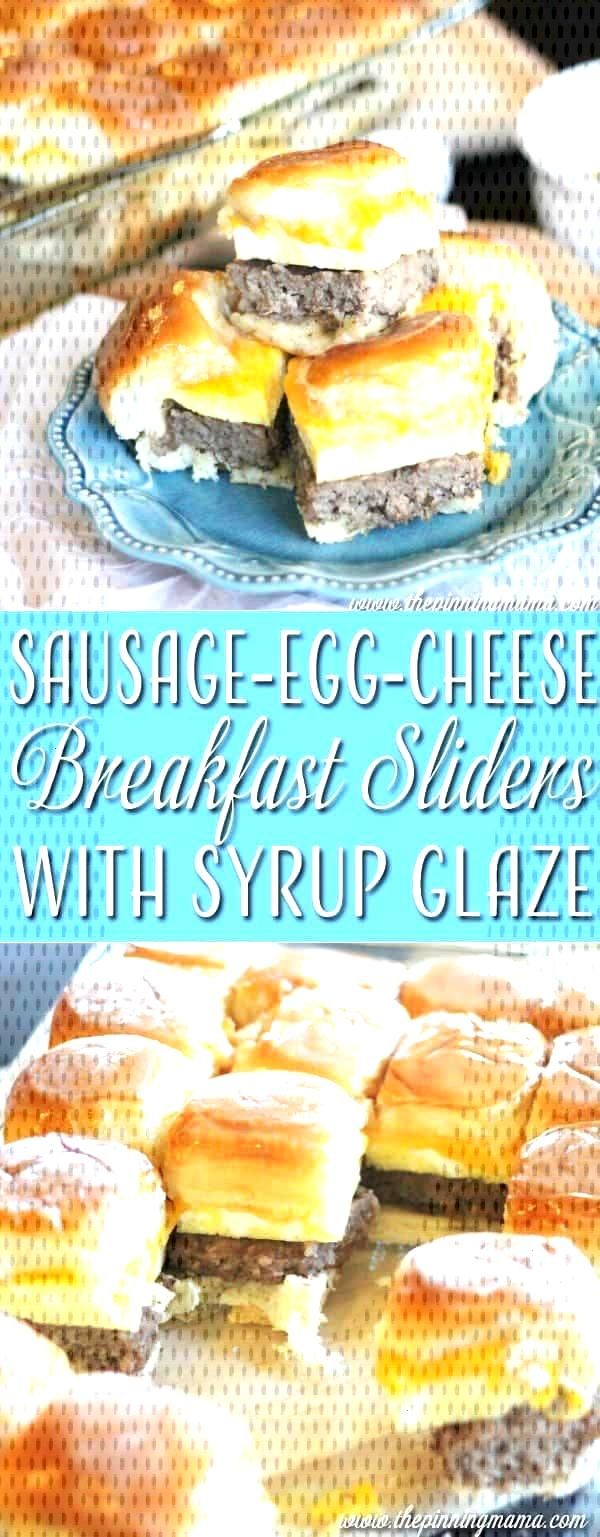 Sausage Egg and Cheese Breakfast Sliders with Syrup Glaze • The Pinning Mama - Sausage Egg and C