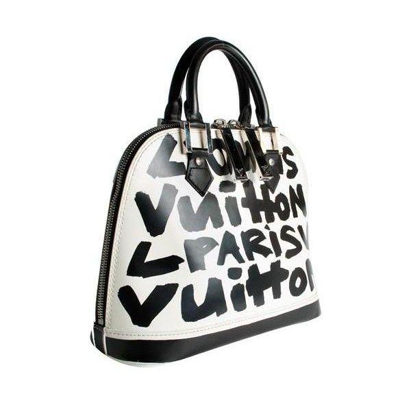 f65b6a58c0e Louis Vuitton Limited Edition Glazed Leather Alma Graffiti MM Handbag  ( 1
