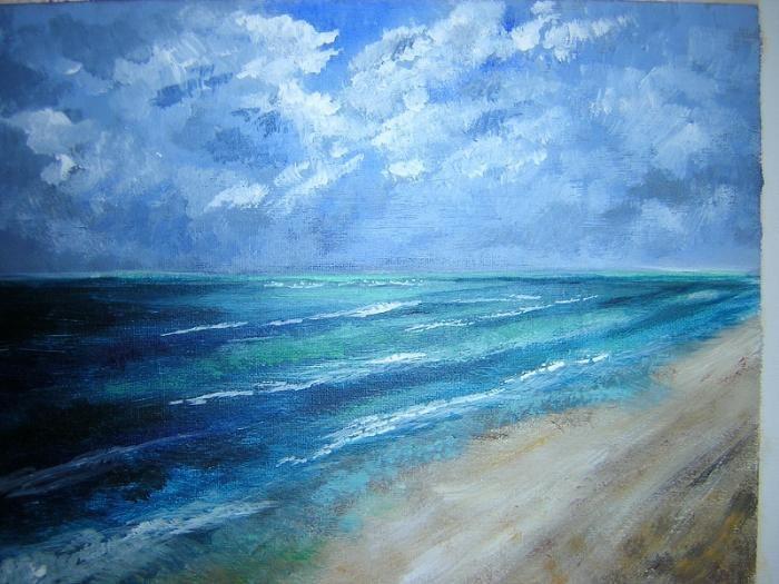 Original Ocean Abstract Acrylic Painting by OraBirenbaumArt ...