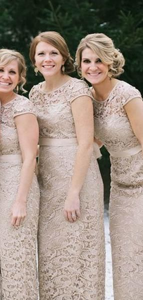 Alluring Illusion Cap Sleeve Long Mermaid Lace Bridesmaid Dresses With Sash, Bridesmaid Dresses, VB02380 Alluring Illusion Cap Sleeve Long Mermaid Lace Bridesmaid Dresses With Sash, Bridesmaid Dresses, VB02380 #lacebridesmaids