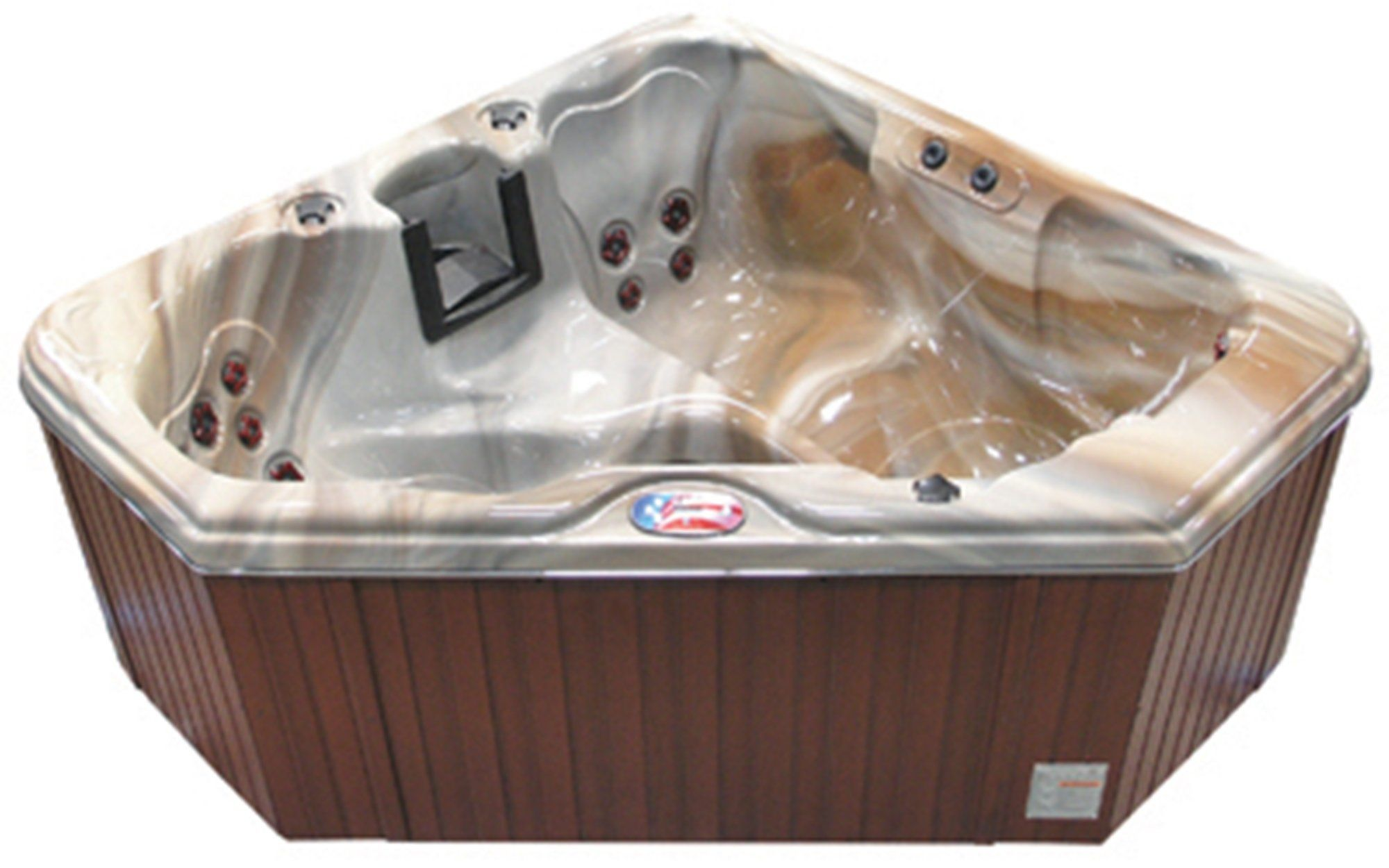 Amazon.com : American Spas AM-628TM 2-Person 28-Jet Triangle Spa ...