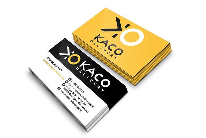 Carte De Visite KACO DELIVERY Sofia Doudine Graphiste Webdesigner B2B Freelance