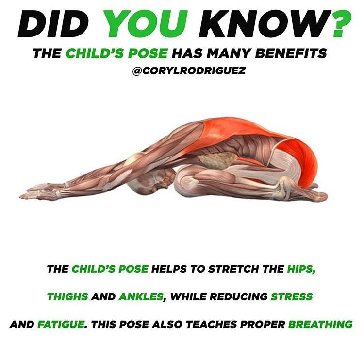 Child pose benefits | Yoga postures, Yoga anatomy, Yoga ...