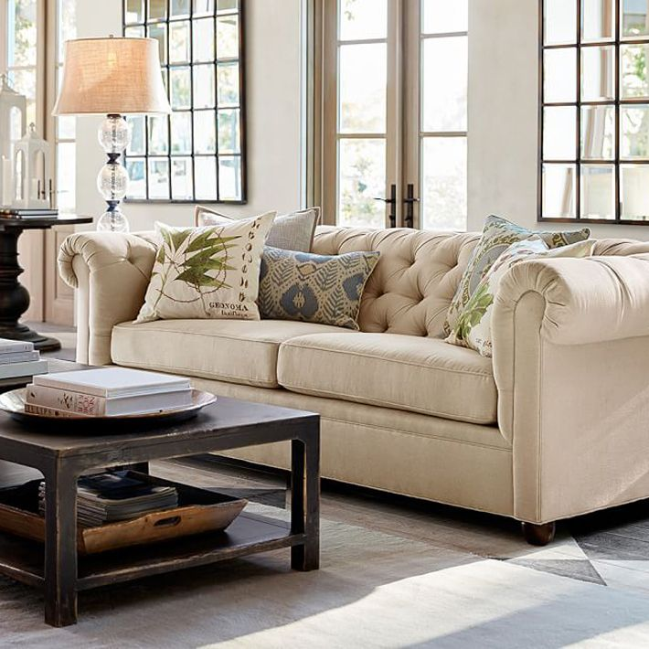 living room pottery barn%0A Pottery Barn  Bed  Studio  Furniture  Chesterfield  Couch  Living Room   Mesas  Study
