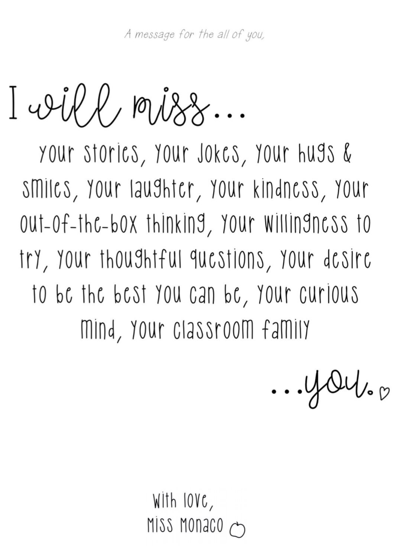 Farewell Message To Students From Teacher Farewell Message To Students Letter To Students Student Teacher Gifts