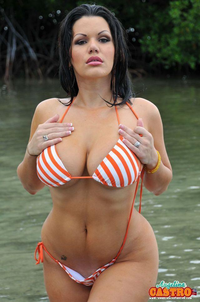 Mujeres curvilineas en bikini