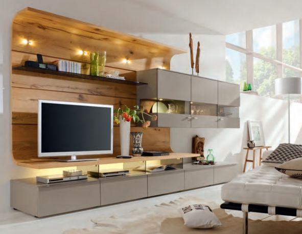 Wohnwand Anbauwand Wohnzimmer Pinterest Modern - wohnwand wei modern